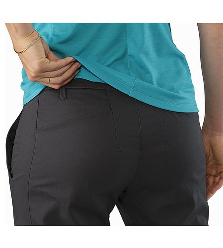A2B Chino Pant Women's Charcoal External Pocket Back