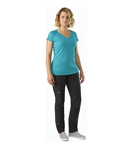 A2B Chino Pant Women's Charcoal Front View