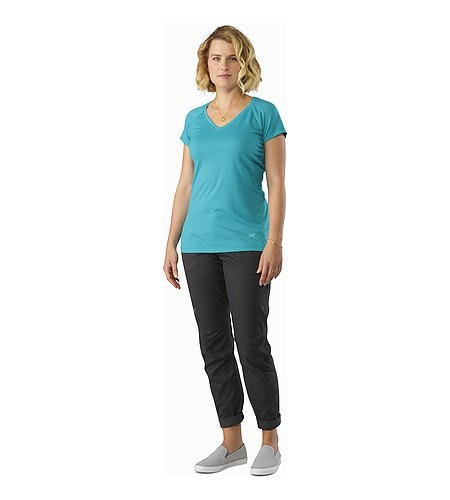 A2B Chino Pant Women's Charcoal Rolled Up Cuffs