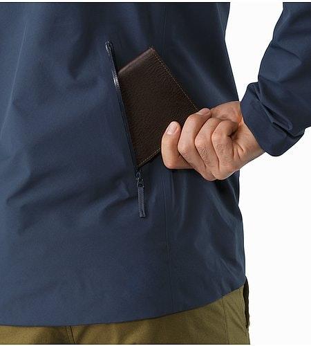 A2B Commuter Hardshell Jacket Nighthawk External Back Pocket