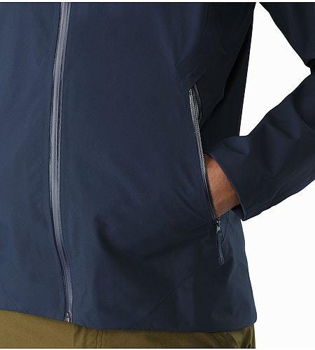 A2B Commuter Hardshell Jacket Nighthawk Hand Pocket