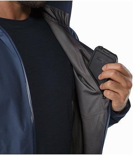 A2B Commuter Hardshell Jacket Nighthawk Internal Pocket