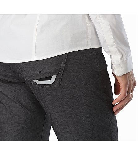 A2B Commuter Pant Women's Carbon Fibre External Pocket Back Reflective Feature