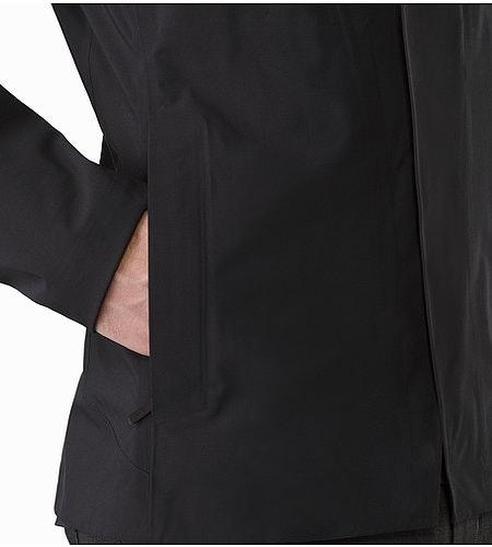 A2B Hardshell Blazer Black Hand Pocket