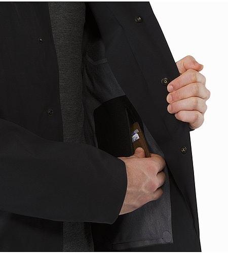 A2B Hardshell Blazer Black Internal Pocket