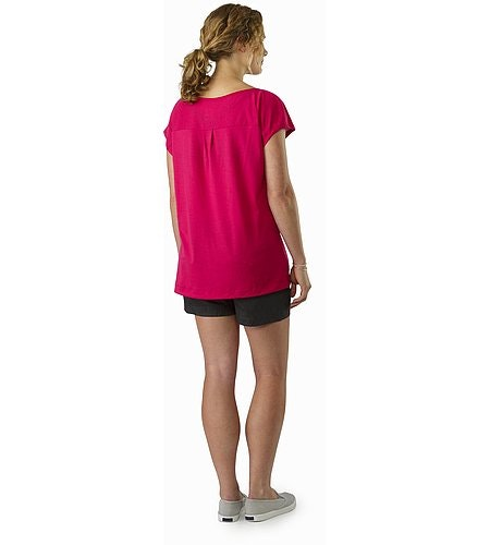 A2B Scoop Neck Shirt SS Women's Ixora Back View