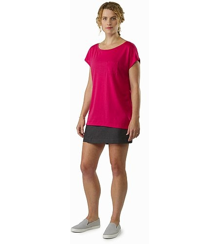 A2B Scoop Neck Shirt SS Women's Ixora Front View