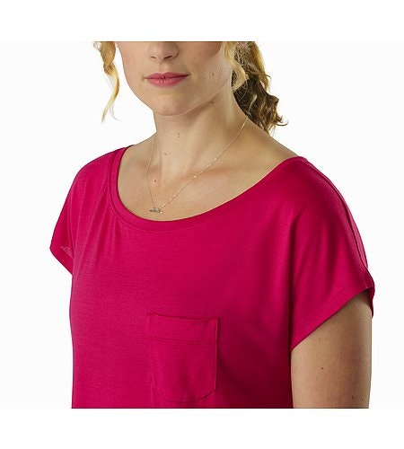 A2B Scoop Neck Shirt SS Women's Ixora Neckline