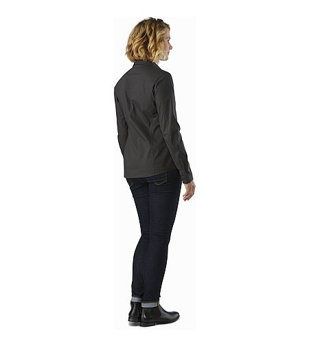 A2B Shirt LS Women's Charcoal Back View
