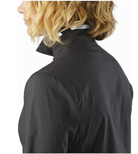 A2B Shirt LS Women's Charcoal Collar Reflective Feature
