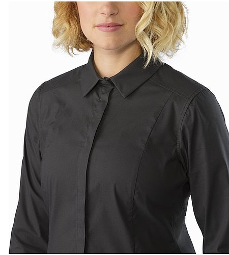 A2B Shirt LS Women's Charcoal Collar