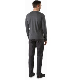 A2B Top LS Black Heather Back View