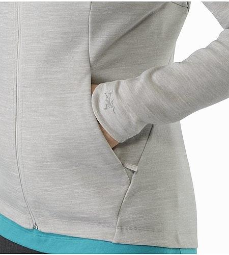A2B Vinta Jacket Women's Fawn Heather Hand Pocket