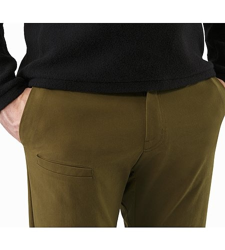 Abbott Pant Dark Moss Hand Pockets