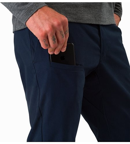 Abbott Pant Tui External Pocket Front
