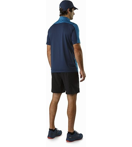 Accelero Comp Zip Neck SS Deep Cove Nocturne Back View