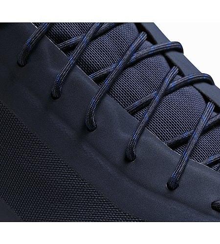Acrux SL GTX Approach Shoe Total Eclipse Blue Nights Detailansicht Schnürverschluss