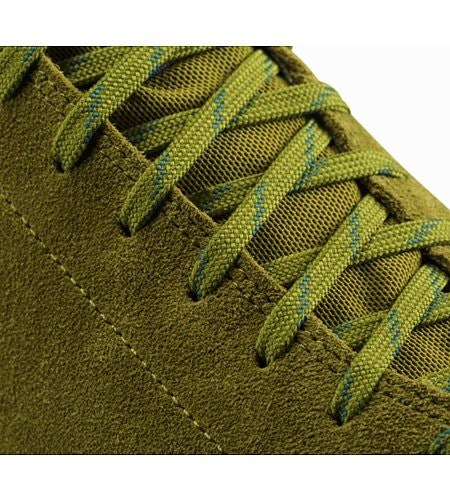 Acrux SL Leather Approach Shoe Carmanah Evergreen Detailansicht Schnürband