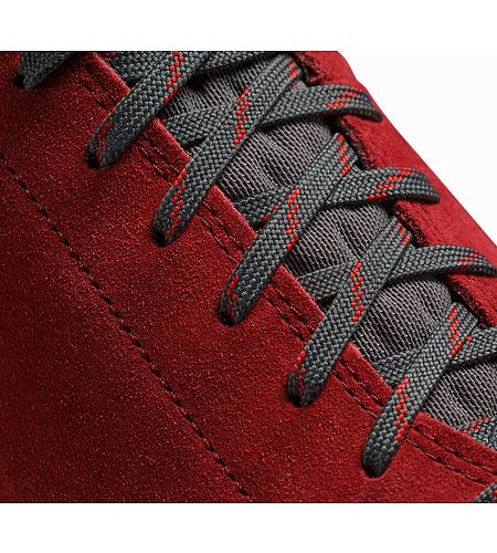 Acrux SL Leather GTX Approach Shoe Carmin Windy Green Lace Detail