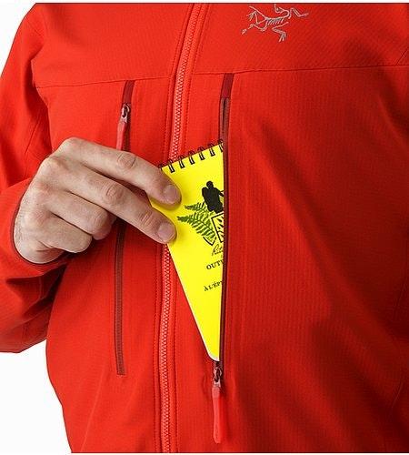 Acto FL Jacket Cardinal Chest Pocket