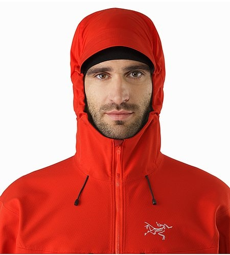 Acto FL Jacket Cardinal Hood Front View