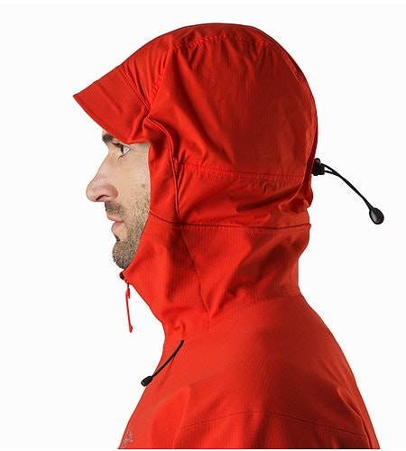 Acto FL Jacket Cardinal Hood Side View