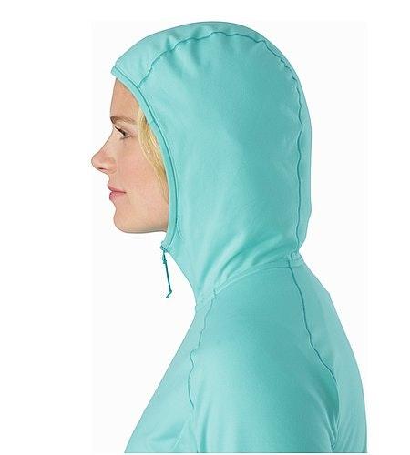 Adahy Hoody Women's Halcyon Hood Side View