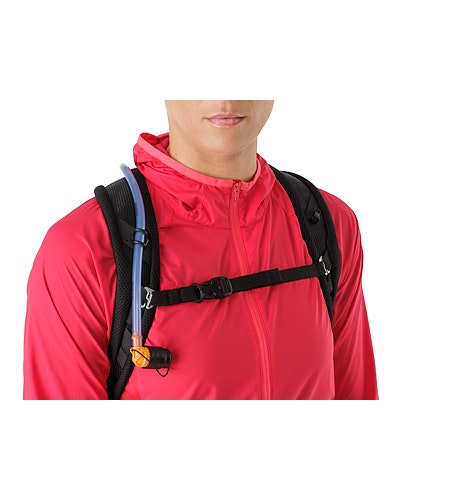 Aerios 10 Backpack Raven Adjustable Sternum Strap