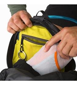 Aerios 10 Backpack Raven Internal Security Pocket