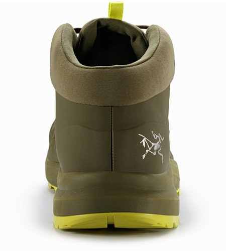 Aerios FL Mid GTX Shoe Tann Forest Lampyres Back View