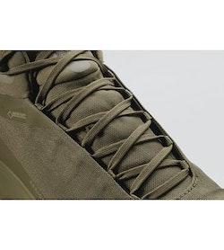 Aerios FL Mid GTX Shoe Tann Forest Lampyres Lace Detail