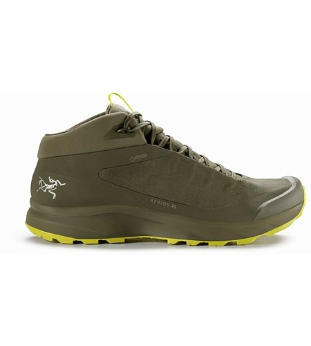 Aerios FL Mid GTX Shoe Tann Forest Lampyres Side View