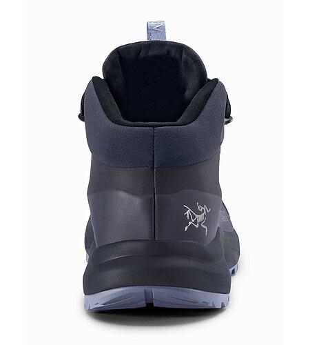 Aerios FL Mid GTX Shoe Women's Black Sapphire Binary Back View