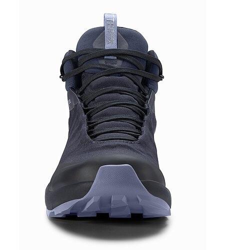 Aerios FL Mid GTX Shoe Women's Black Sapphire Binary Front View
