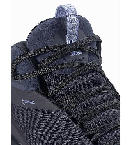 Aerios FL Mid GTX Shoe Women's Black Sapphire Binary Lace Detail