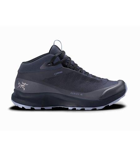 Aerios FL Mid GTX Shoe Women's Black Sapphire Binary Side View