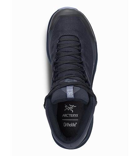Aerios FL Mid GTX Shoe Women's Black Sapphire Binary Top View