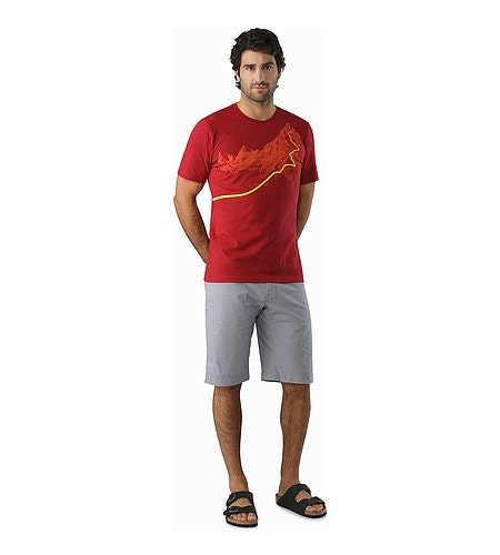Afterglo Heavyweight T-Shirt Volcano Front View
