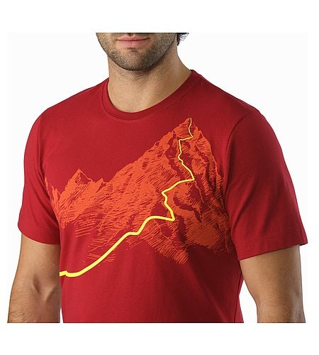 Afterglo Heavyweight T-Shirt Volcano Graphic Close Up