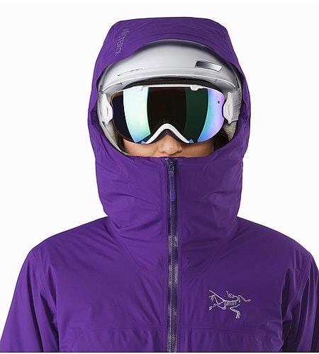 Airah Jacket Women's Azalea Helmet Compatible Hood Front View