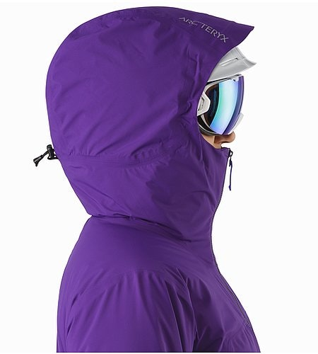 Airah Jacket Women's Azalea Helmet Compatible Hood Side View