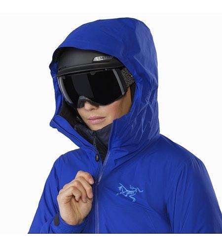 Airah Jacket Women's Zaffre Helmet Compatible Hood