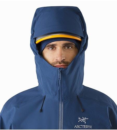 Alpha AR Jacket Triton Helmet Compatible Hood Front View
