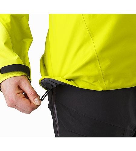Alpha AR Jacket Women's Chartreuse Cohaesive™ Hem Adjuster