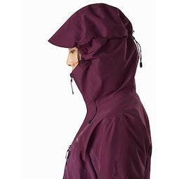 Alpha AR Jacket Women's Rhapsody Hood Side View