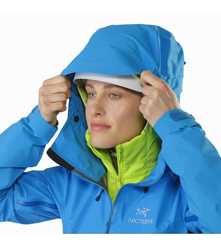 Alpha AR Jacket Damen Sonora Vorderansicht Kapuze
