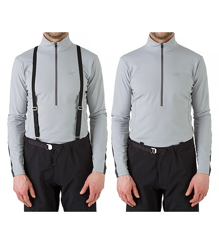 Alpha AR Pant Black Suspenders