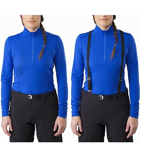Alpha AR Pant Women's Black Suspenders On and Off