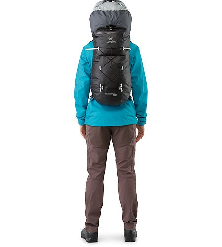 Alpha FL 30 Backpack Black Extendable Top Lid