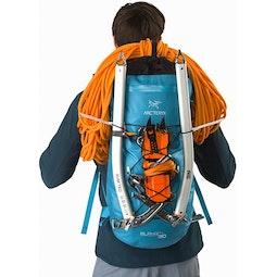 Alpha FL 30 Backpack Dark Firoza Bungee Attachment